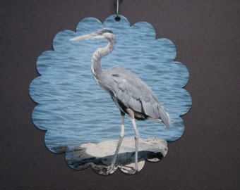 Great Blue Heron Garden Art