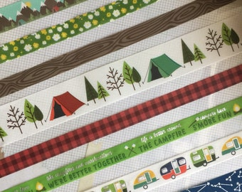 Camping under the stars washi tape sample