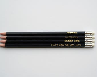 Archer-Inspired Quote Pencil Set - Quote Pencils - Pop-culture - Gift - Screen Play