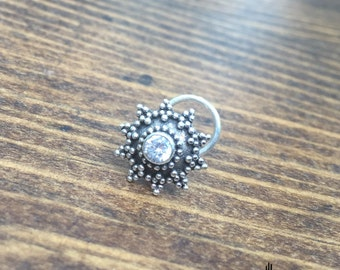 Indian Nose Jewelry Indian Nose Stud Silver Nose Stud Silver Nose Ring Tribal Nose Jewelry Tribal Jewelry Body Jewelry  Silver Nose Jewelry