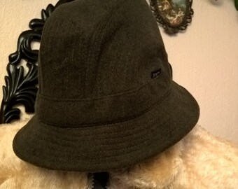 Hat vintage Made in Italy wool khaki
