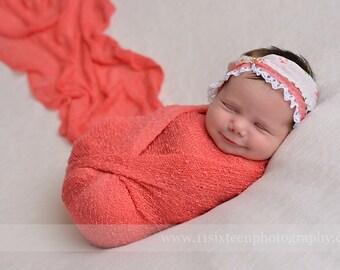 Mango Stretch Knit Wrap Newborn Photography Prop
