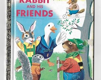 Vintage 1970's Children's Book - A Little Golden Book - Rabbit And His Friends - Richard Scarry