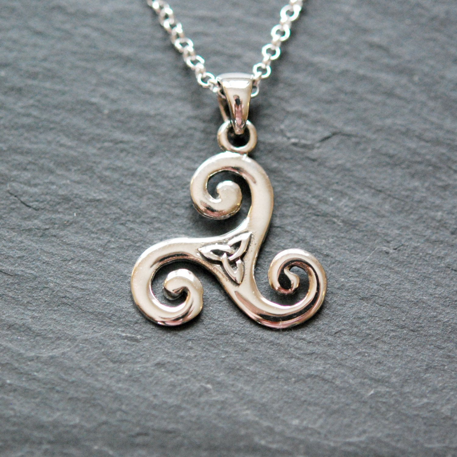 silver products small fire necklace pendant bealtaine sterling triskele