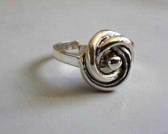 Ring Silver 835 Modernist Vintage