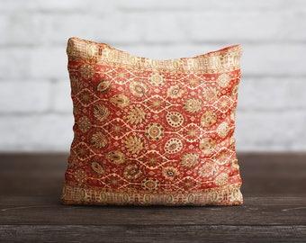 Persian Carpet Pillow Style Art PillowCase Red Moroccan Pillow Turkish Cushion Cover Persian Rug Pillow Toss Home Decor Throw Pillow Cover