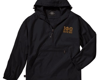 Iota Phi Theta Pack-N-Go Pullover (brown embroidery)