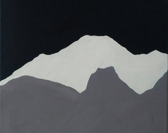 Mountains, Simply - a mountain lover's flippable acrylic painting home decor