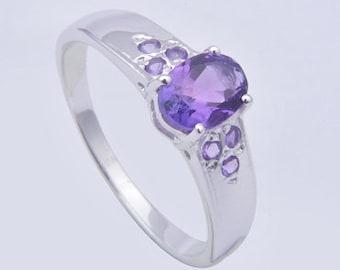 Amethyst ring,925 silver ring ,Handmade ring,sterling silver ring