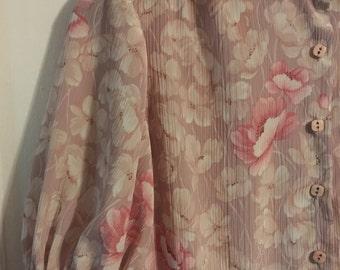 Vintage 70s floral day dress