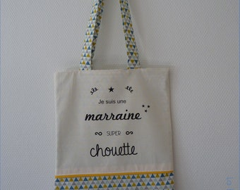 Tote bag fully lined / / bag / / personalized gift / / mother's day / / zero waste