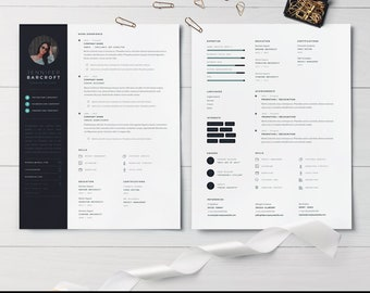 Creative Resume Template for Word | Modern Resume | CV Template | Professional Resume | Creative Template | Free Icon Set