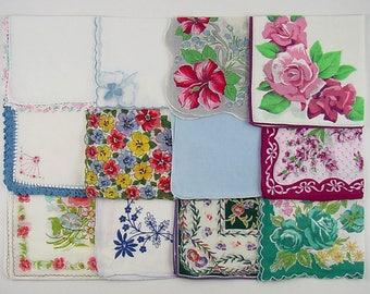 Vintage Hanky Lot 1 Dozen Assorted Vintage Hankies Handkerchiefs (Lot #B15)