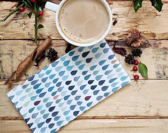 Servilletas de algodón - Decoración estilo nórdico - Servilleta  azul - Decoración para una mesa bonita.