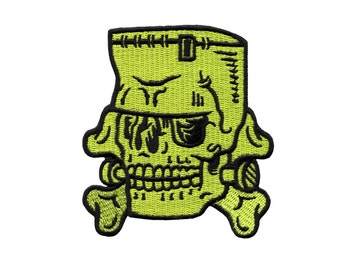 Frankenstein Patch - Monster Skull Embroidered Patch