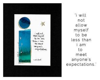 mantra, original art, gift