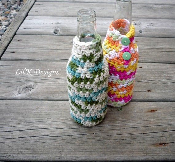 Glass Bottle Cozy Pattern