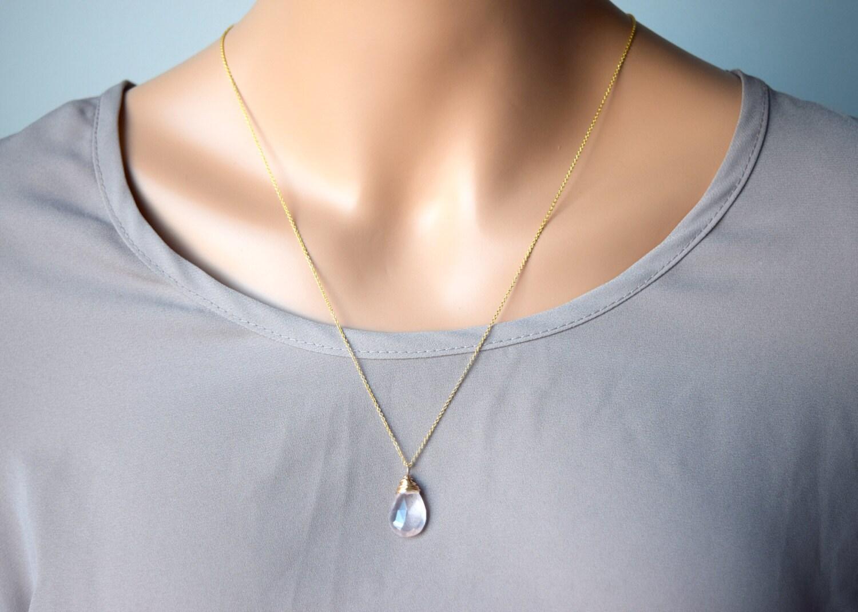 Madagascar Rose quartz necklace, gemstone pendant, love stone, Rose ...