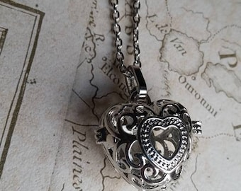 Aromatherapy Pendant, Diffuser, Silver Bead Cages, Aromatherapy Lockets, Bead Lockets, Filigree Lockets, Aromatherapy Pendant,