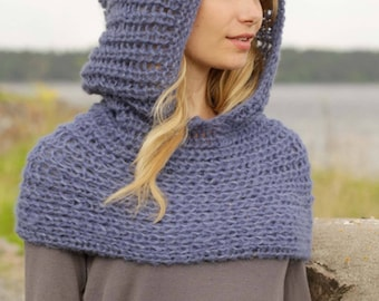 Neck warmer with hood
