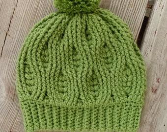 Weathered Wheat hat - pdf crochet pattern