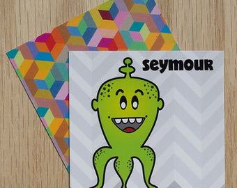 "Replacement Card ""Seymour"" — Oh Those Monsters: Memory Game"