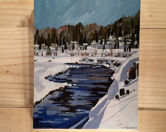 Waterloo Cree  8x10 stretched canvas painting