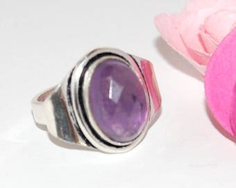 Amethyst ring purple and Silver 925 size 52 - after Beach ©