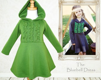 Childrens Sewing Pattern PDF, Girls Dress Pattern pdf, Girls Clothing Pattern, Girls Sewing Pattern, Dress Sewing Pattern, Winter BLUEBELL