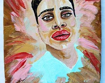 Frank's Close Up 8x10 acrylic portrait painting