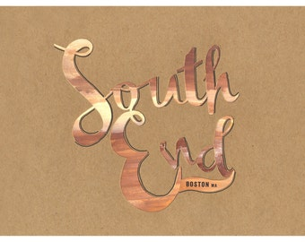 South End Typography Print