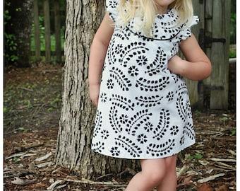 Robe de Kate - 12 mois à 10 ans - patron PDF et Instructions de montage-a-line, options de 2 empiècement, doublé le corsage - livraison gratuite
