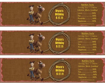Woody & Bullseye Water Bottle Wrappers-DIGITAL-check out the matching items in my shop