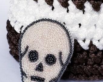 PDF file - Skull brooch - Bead embroidery - Beading Pattern - Bead embroidery tutorial - PDF Pattern - Beaded Skull - Skull Pattern
