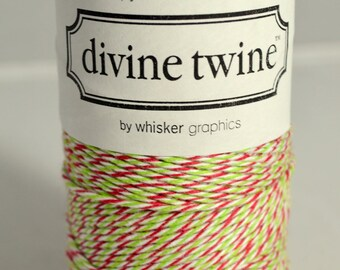 Red and Green Bakers Twine--HOLIDAY Divine Twine, Holiday Bakers Twine (240 yards) Red and Green Twine, Christmas Twine, Holiday Twine