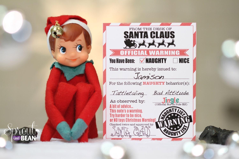 naughty nice warning and reward christmas elf