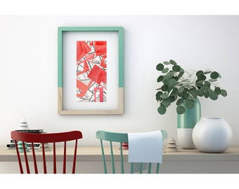 Red painting. Original Abstract Painting. Original modern art. Watercolor painting. Original abstract art. Original wall art