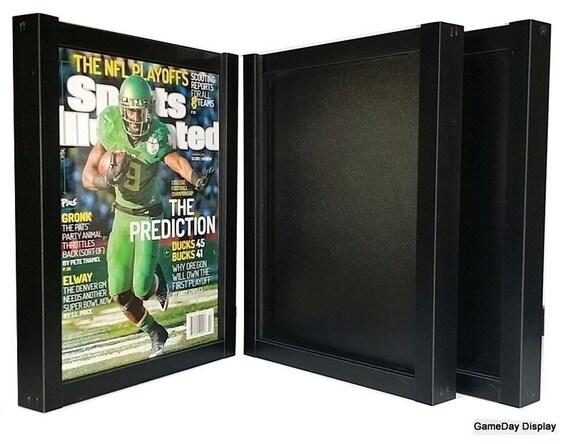 Magazine Sports Illustrated Display Frame Case Black Shadow