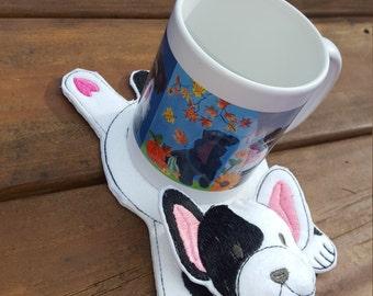 French Bulldog, Frenchie  Coaster, Mug Rug, Snack mat