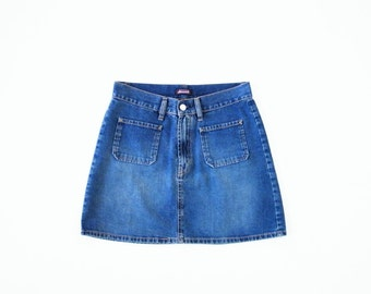 Cute 90's Denim Skirt, Diesel Women Skirt, Blue Jeans Skirt, A Line Mini Skirt, Vintage Denim Skirt, Soft Grunge Skirt, 1990 Skirt