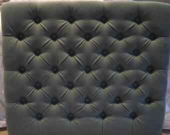 Diamond Tufted Linen Headboard (Twin)
