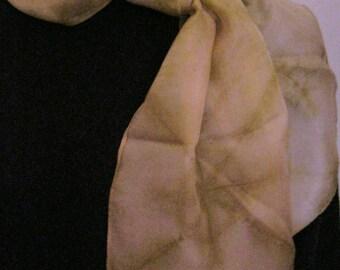 Tan Starburst Silk Scarf