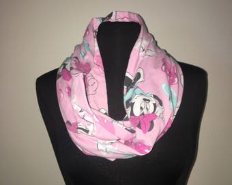 Repurposed/Up-cycled Minnie Mouse Infinity Scarf
