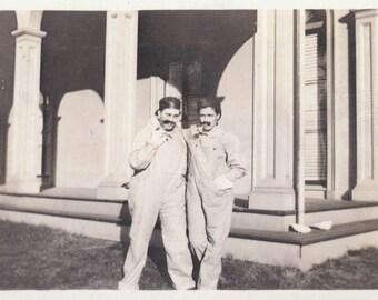 vintage photo 1912 Women Cross Dress w Mustaches