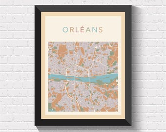 Antique Map Of New Orleans New Orleans City Map - Orleans france map