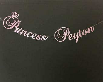 Any name, Princess Birthday Banner, First Birthday Banner, Birthday Banner, Princess Banner