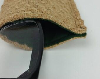Handwoven Eyeglass Case/ Handmade/ Woven/  Soft eyeglass case/ Eyeglasses Case/ Sunglass Case/ Glasses Case