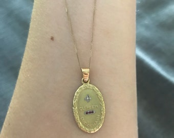 ON HOLD MAY 5th Vintage french love token pendant