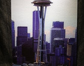 Seattle Space Needle - Glass Cutting Board Large - 12 in x 15 in