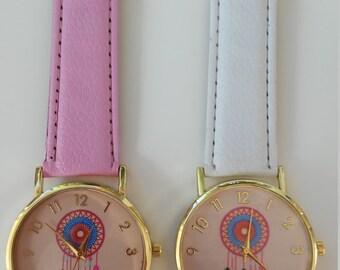 Watch Boho-Dreamcatcher Watch-Boho watches-watch catches dreams-summer watches-hippie accesories-golden boho watches-